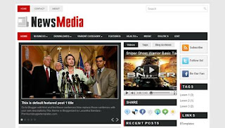 News Media Blogger Template