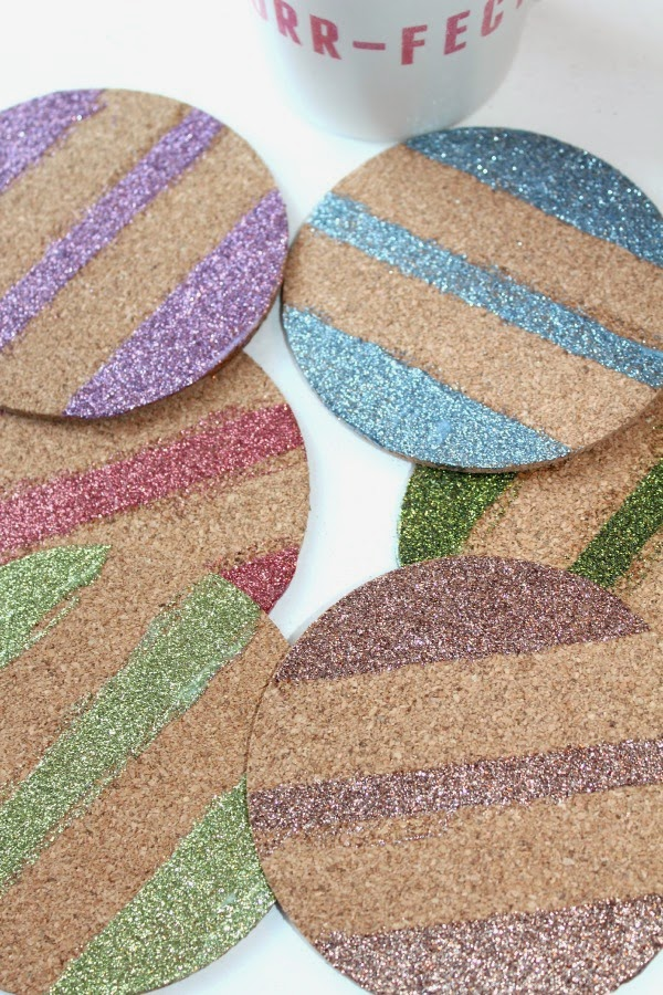 DIY Cork Board Coasters Craft
