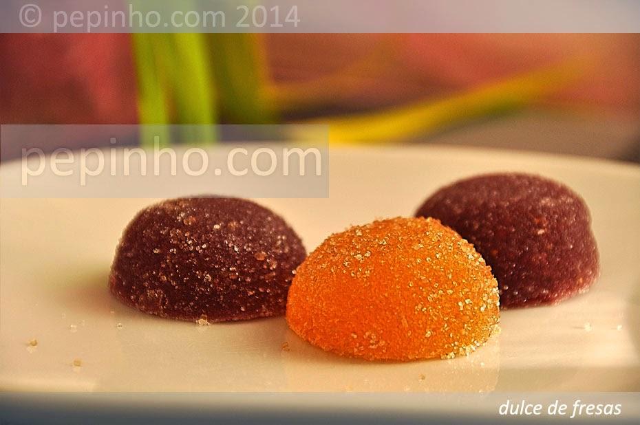 Dulce de fresas y naranja
