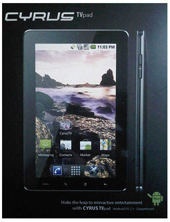 Cyrus TV Pad, Tablet Android 7 Inci Dengan Fitur TV Harga Murah