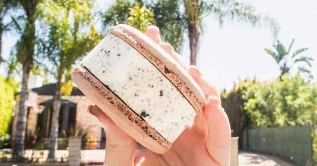Macaron Ice Cream Sandwiches (yes, this is happening)