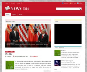 News Site Blogger Template