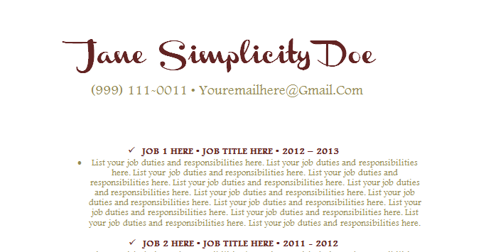the employment insider simplicity free premium resume template