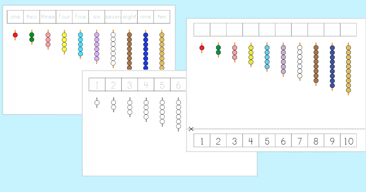 The Helpful Garden: Colored Bead Stair Extension Exercise