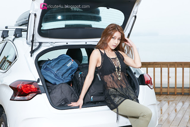 1 Park Si Hyun for THULE - very cute asian girl - girlcute4u.blogspot.com