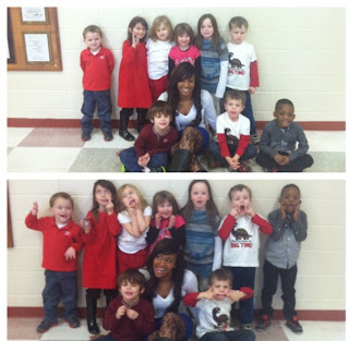 Me and my former Prek Kids
