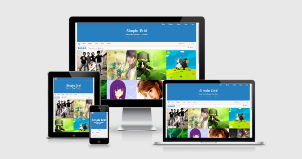 Simple Grid Responsive Blogger Template | Gudang Template Blog