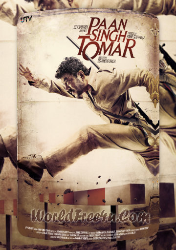 Poster Of Bollywood Movie Paan Singh Tomar (2012) 300MB Compressed Small Size Pc Movie Free Download worldfree4u.com