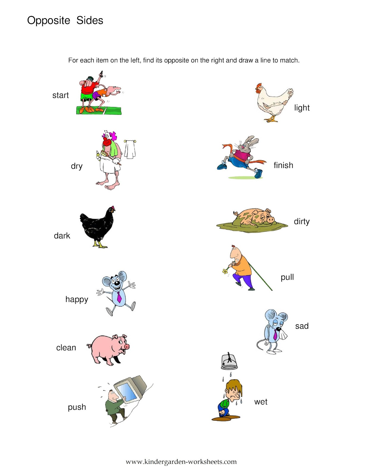 Worksheet Kindergarten Antonyms Wosenly Free Worksheet – Kindergarten Opposites Worksheet