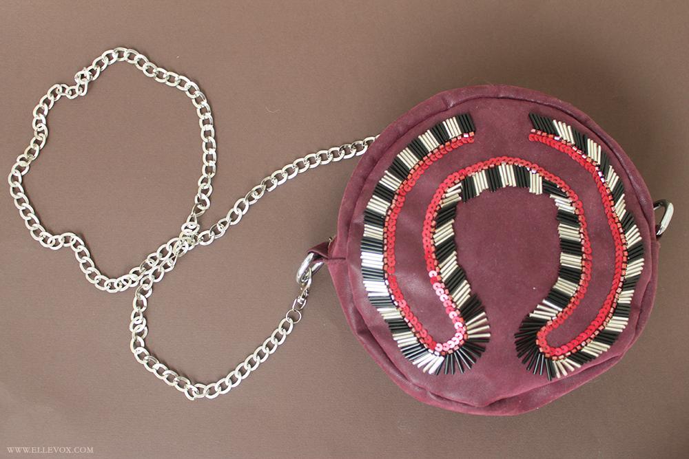 Handmade Round Embellished Clutch