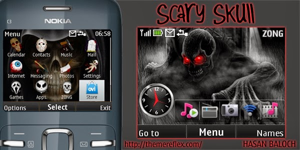 Tema Nokia C3 Skull