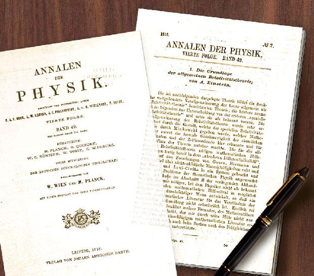 """Bài báo """"Die Grundlage der allgemeinen Relativitätstheorie."""""""