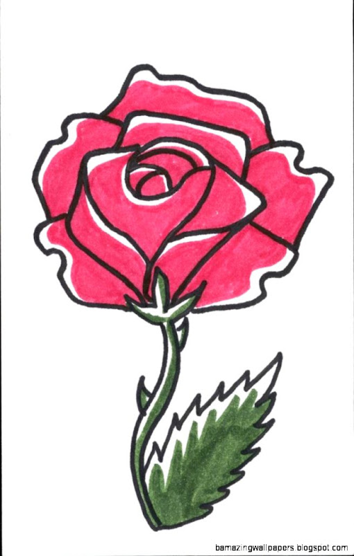 Free download Simple Rose Drawing Tumblr Simple Rose Drawing