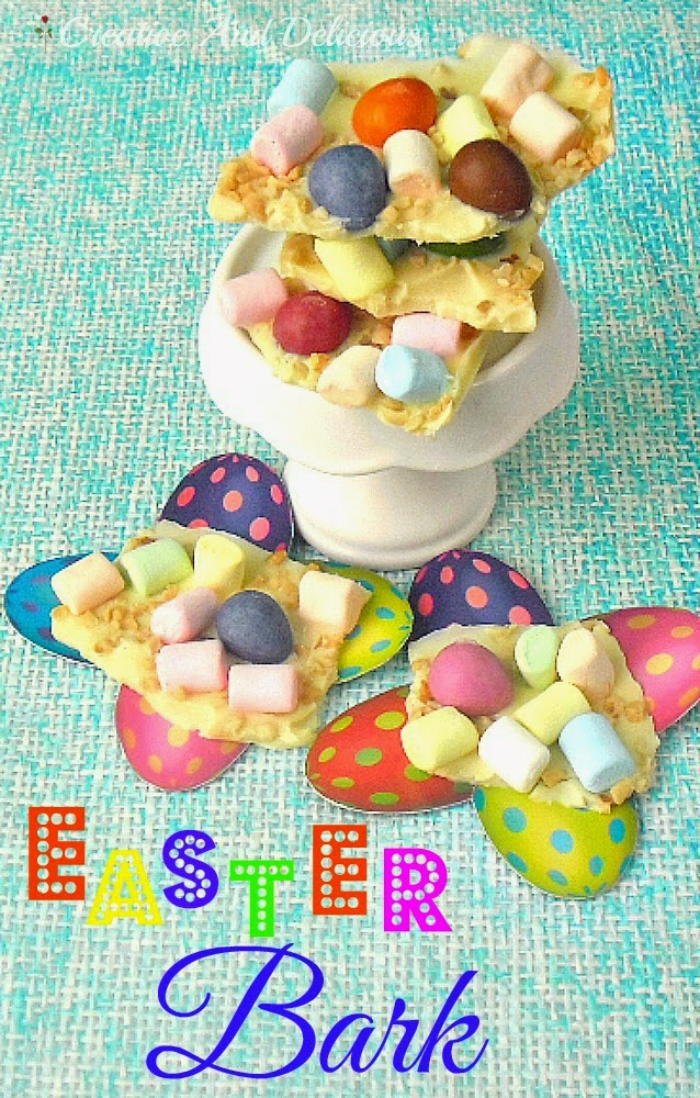Nutty Easter Bark ~ Quick and Easy 4 Ingredient Easter Sweet Treat #Easter #ChocolateBark #EasterBark #SweetTreats