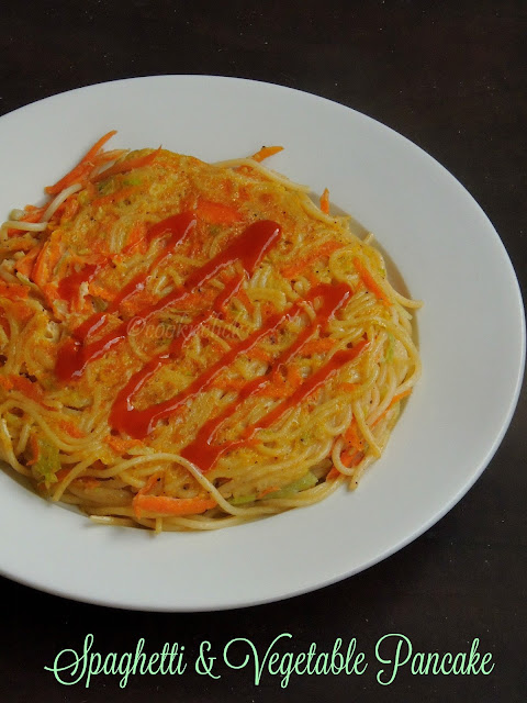 Spaghetti & Vegetable Pancake, Pasta pancake