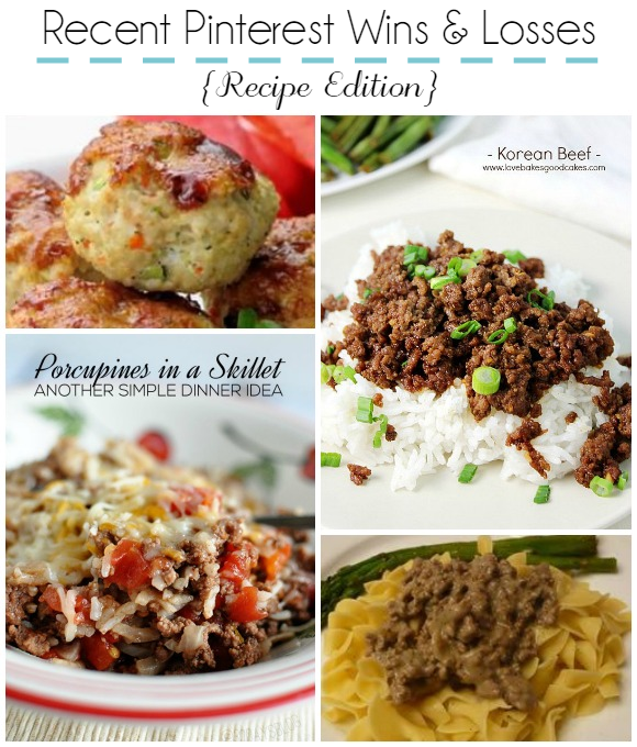 Recent Pinterest Wins & Losses {Recipe Edition} — a Modern Mrs.