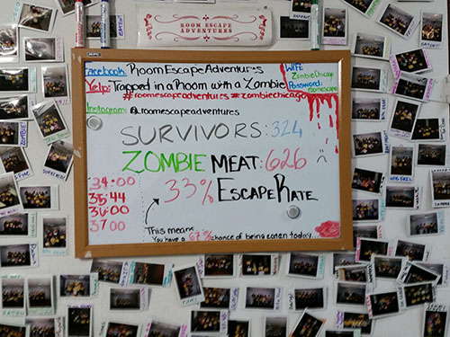 Zombie Meat Escape Rate