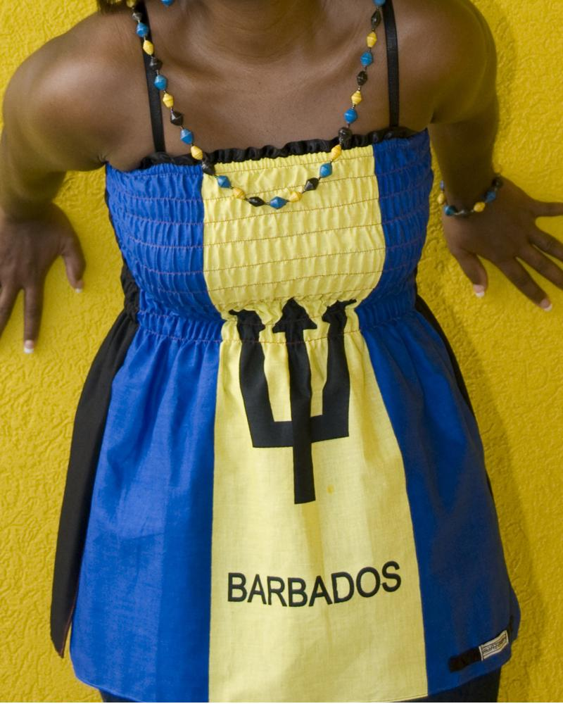 Barbados Flag Scarf
