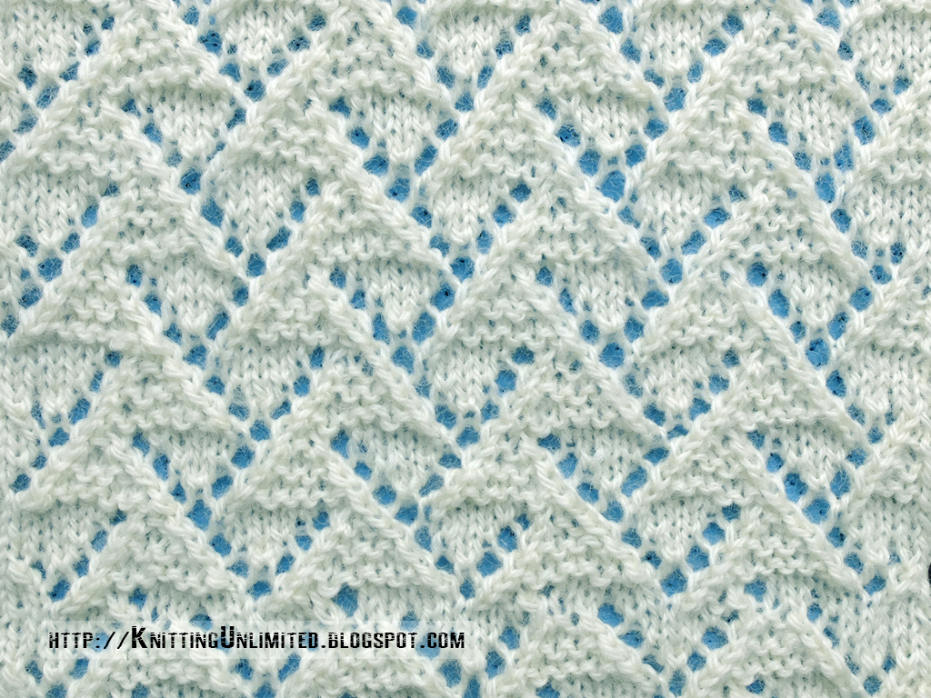 Knitting Stitches For Lace : Lace Stitches for Spring 2016 - Pattern 2/10 - Knitting Unlimited