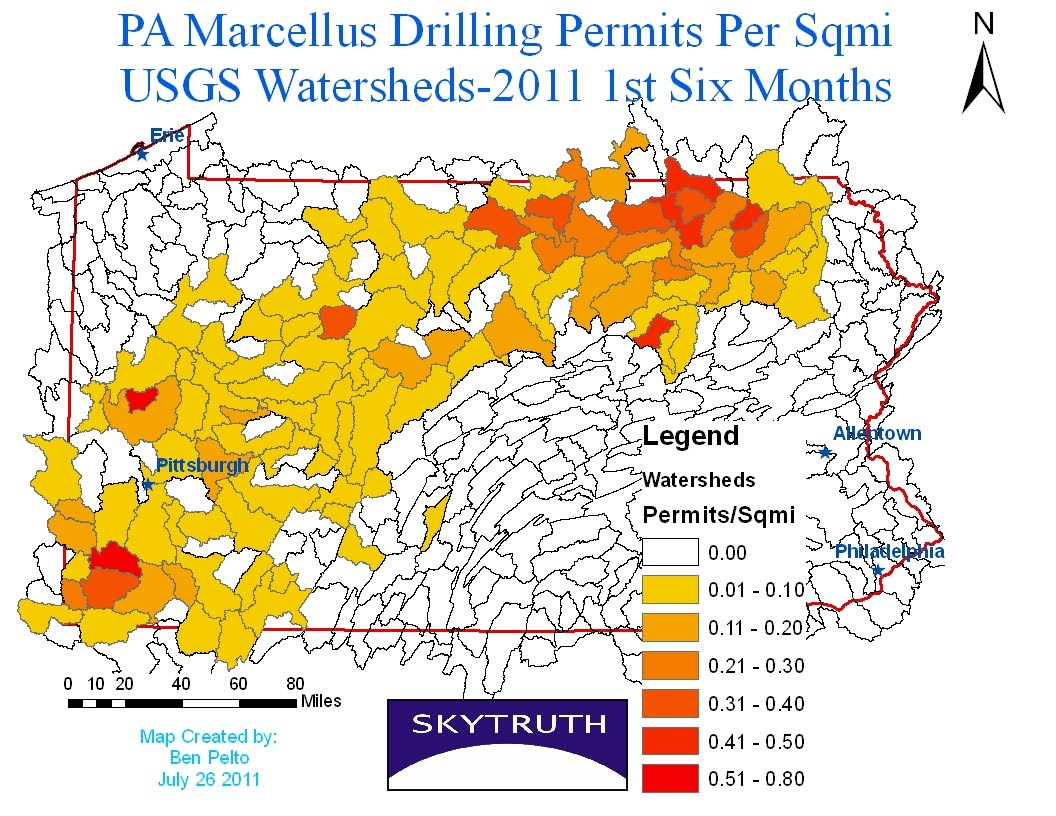 SkyTruth Marcellus Shale Hydrofracking Surface Water Impacts