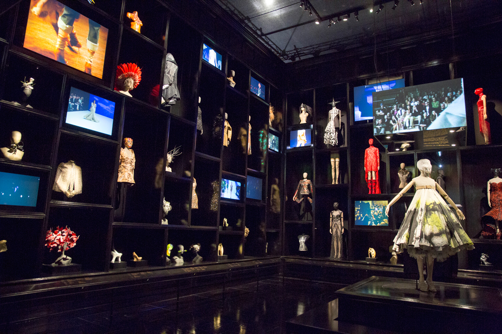 "installation view of ""Cabinet of Curiosities"" gallery / Alexander McQueen Savage Beauty exhibition London / Victoria & Albert Museum / V&A / via fashioned by love British fashion blog"