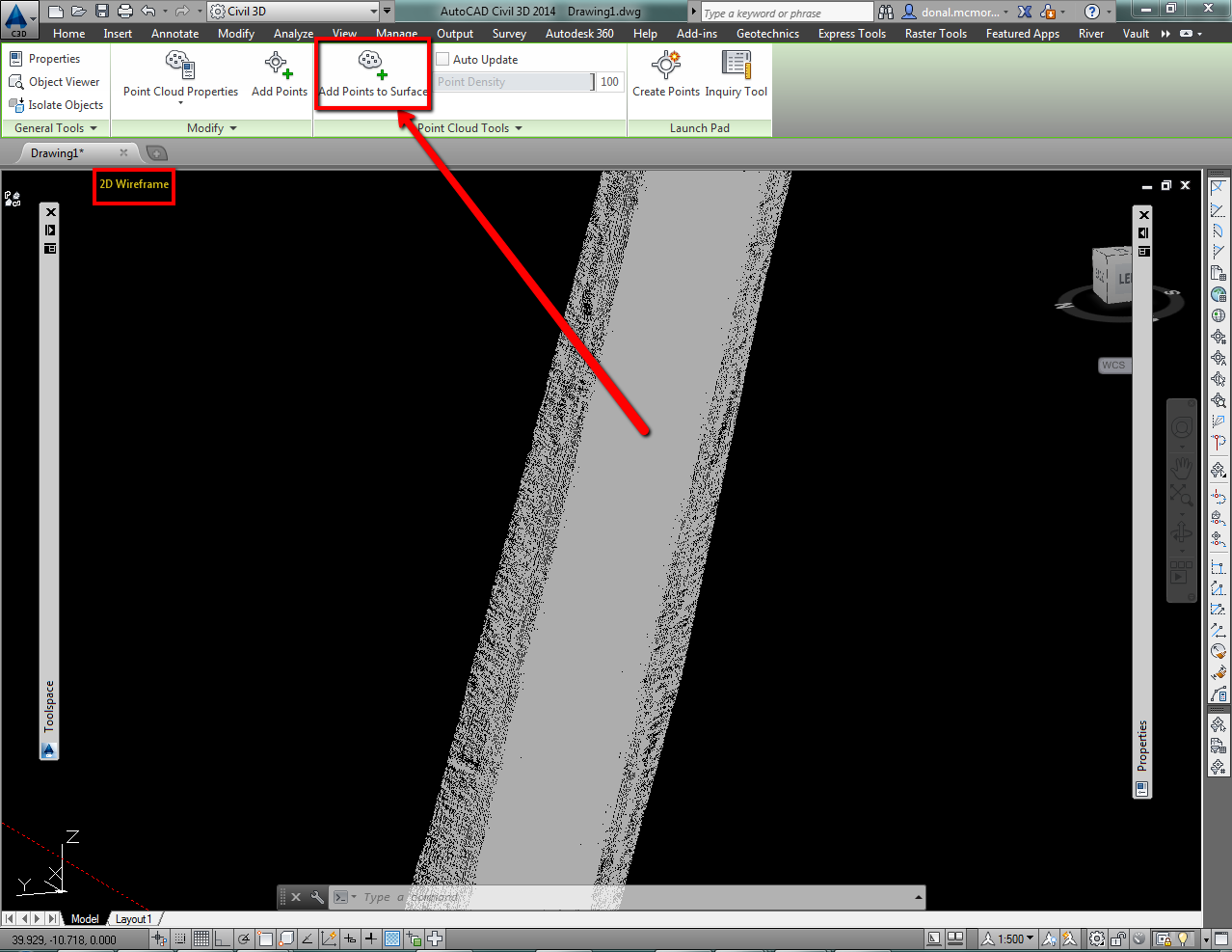 how to change the heght of surfaces in civil 3d