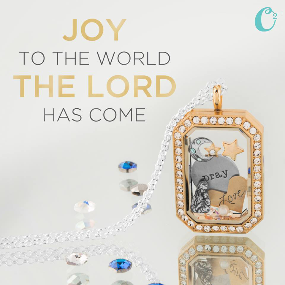 Joy to the World. Create an Origami Owl Heritage Locket filled with holiday charms | Shop StoriedCharms.com