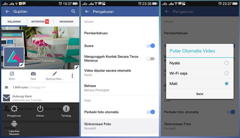 Cara Mematikan Fitur Auto-Play Video di Facebook
