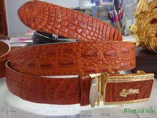 thắt lưng da cá sấu l33
