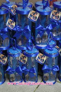Souvenirs Spoon And Fork Wedding Color Motif Royal Blue Box Type Special Cylinder Packaging With Engraving Yes