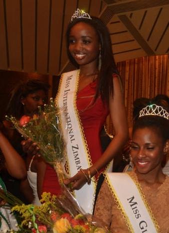 Miss International Zambia 2013 winner Michelle Munyanduki