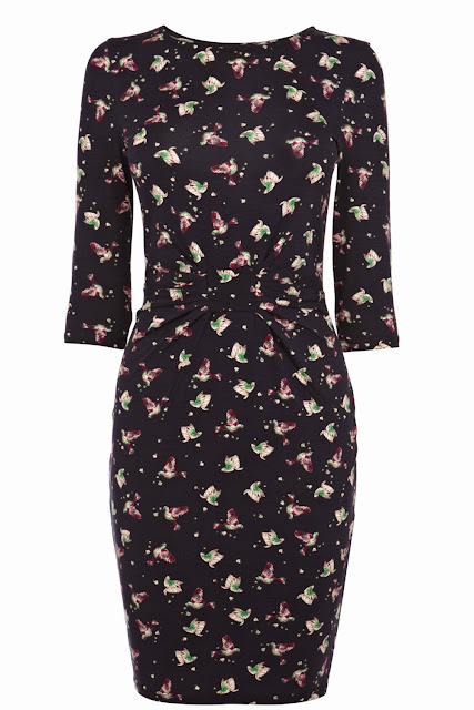 fluro bird dress