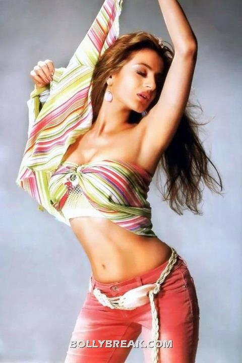 Amisha Patel Navel, Deep Long Hot - (2) - Amisha Patel Navel Pics, Navel Show Photo Gallery