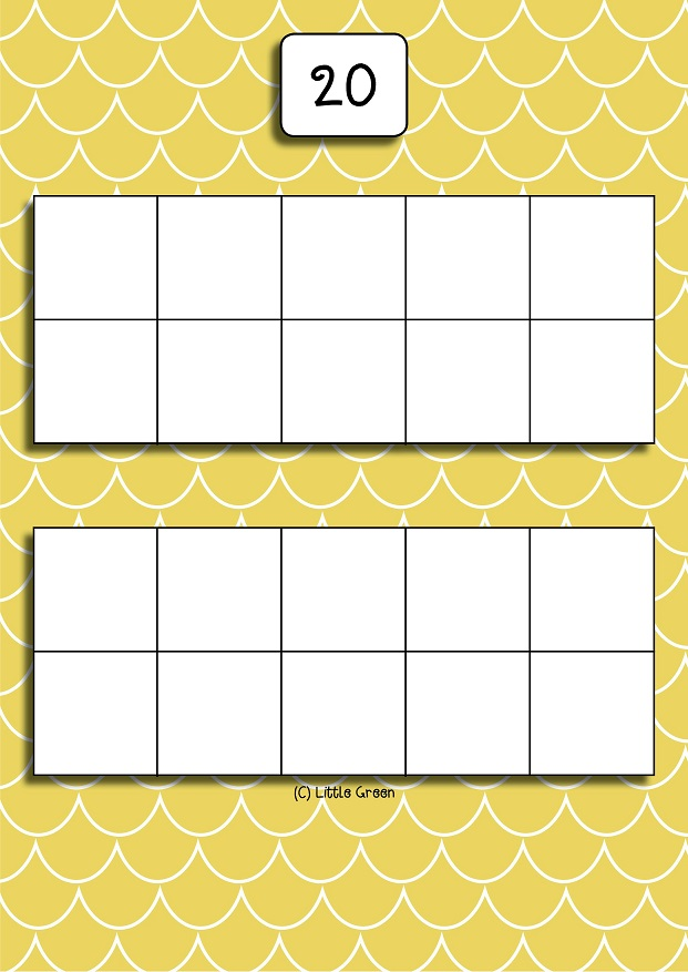 It's just a graphic of Bright Printable Tens Frames