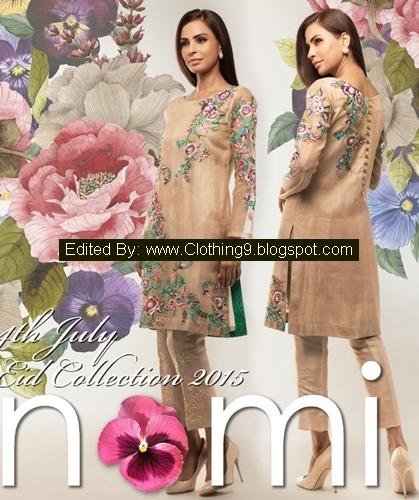 Nomi-Ansari Luxury Pret Eid Dresses Designs 2015 Collection