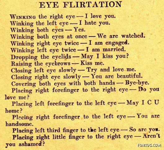 Wordless Wednesday #WW - Eye Flirtation Language