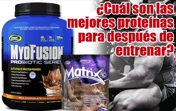 Batidos de proteínas Myofusion Probiotic Series y Matrix 5.0.