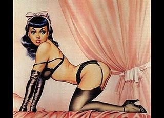 erótica, pin up, dibujos