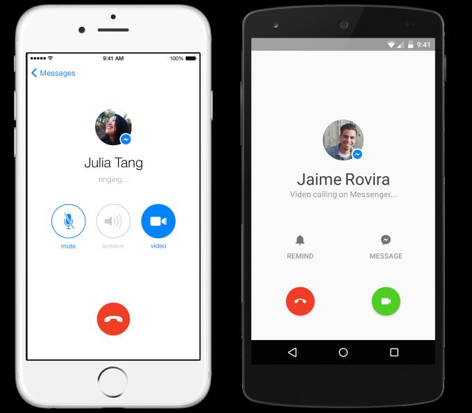 facebook messenger, facebook, skype ,facebok competes skype, Canada, USA, IOS, iOS, android,