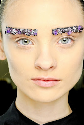 chanel fall 2012 crystal eyebrows