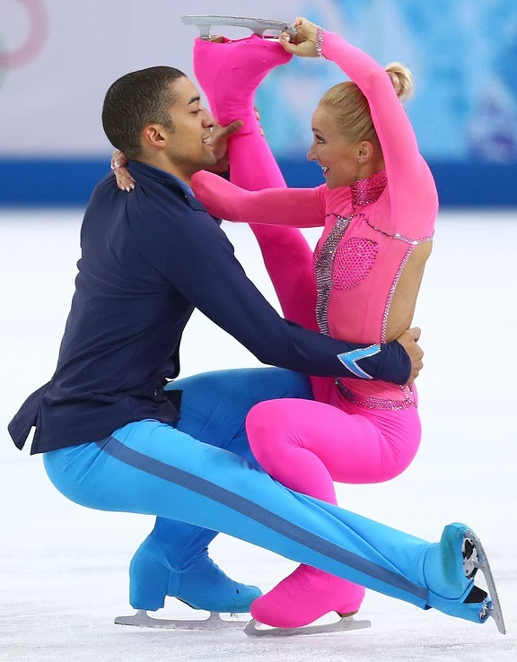 Savchenko and Szolkowy, the pink panther,sochi 2014