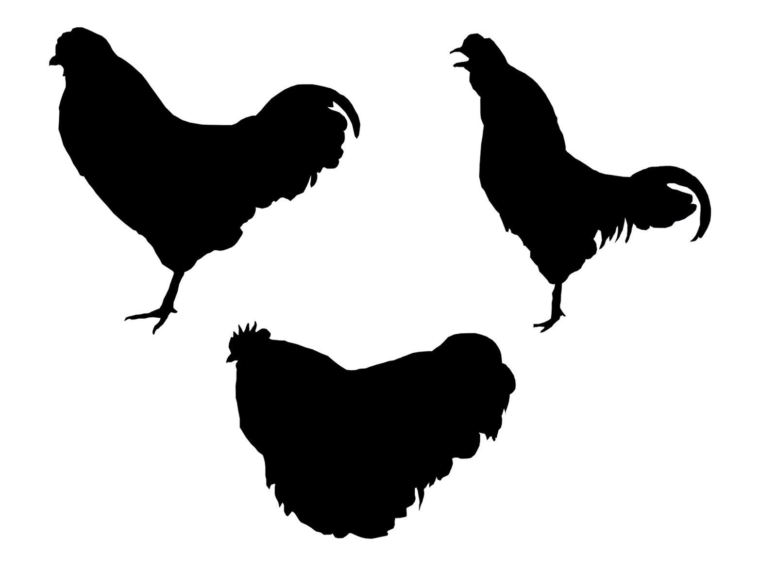 Tutorial make a chicken silhouette using photoshop baditri Images