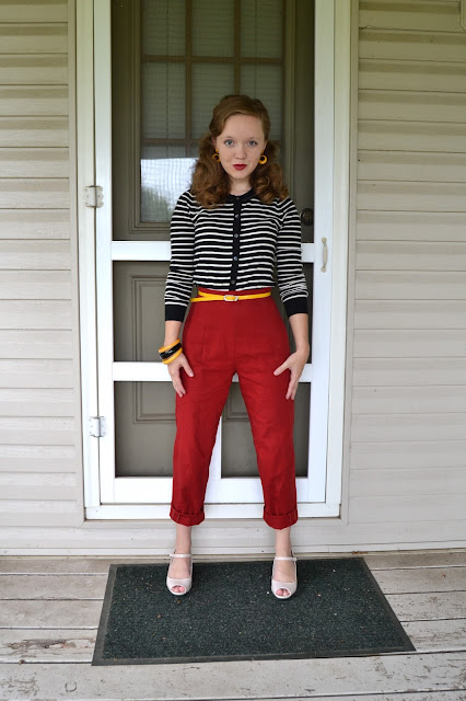 Flashback Summer: Lady In Red... Trousers - Butterick 9779