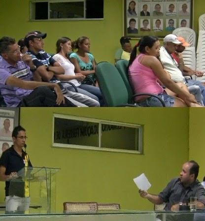 Durante a sessão o presidente da associação dos produtores rurais fez duras críticas ao vereador Alexandre Alencar. Foto Reginaldo Araújo