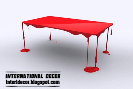 table design ideas. Creative Red Love Me Table, Unusual Table Design Ideas B