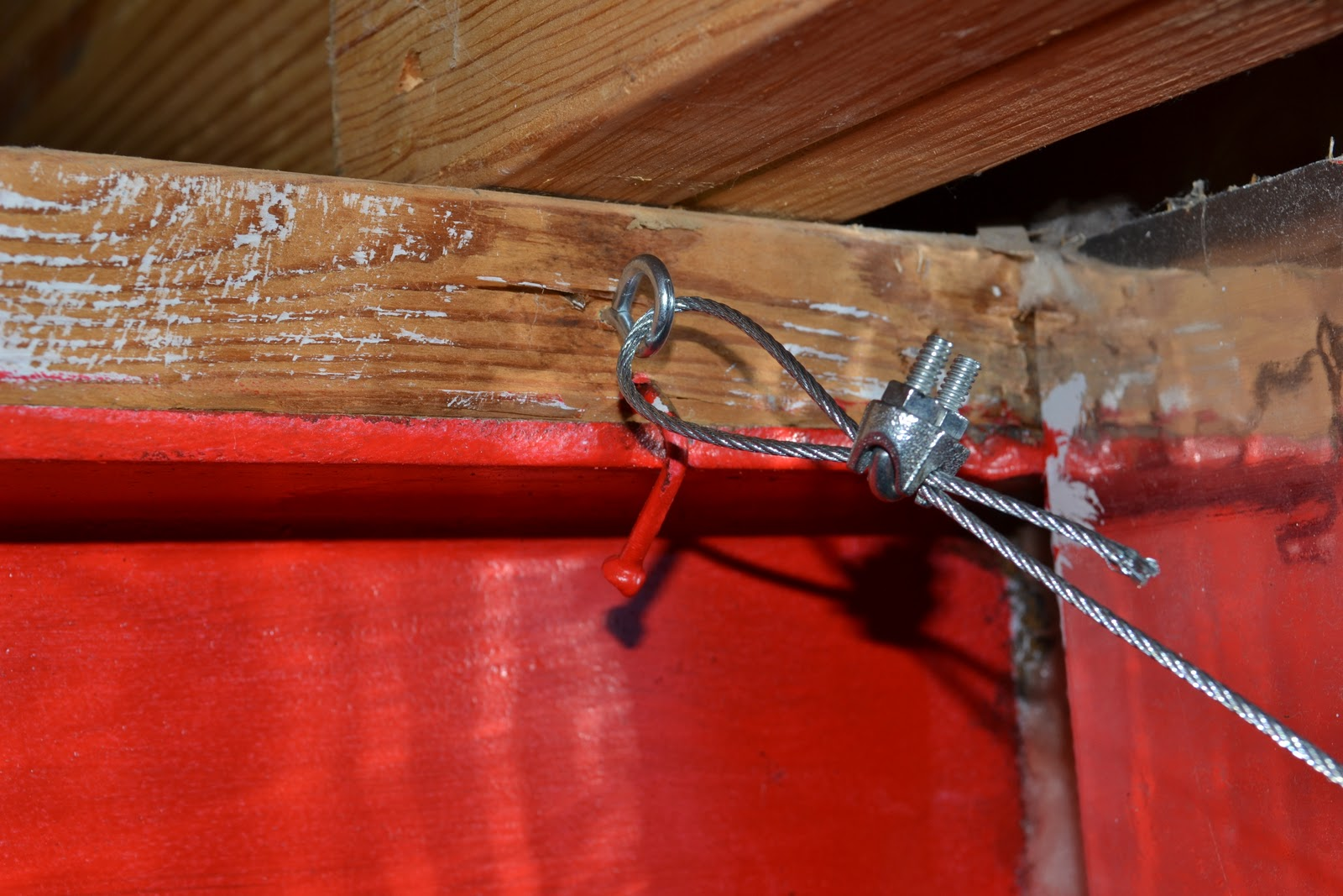 Basement Playroom Update And Wire Curtain Rod Diy Sunny Carrier Pre Wiring Looped The Other End With This Neato Hook That You Can Twist To Make Really Tight