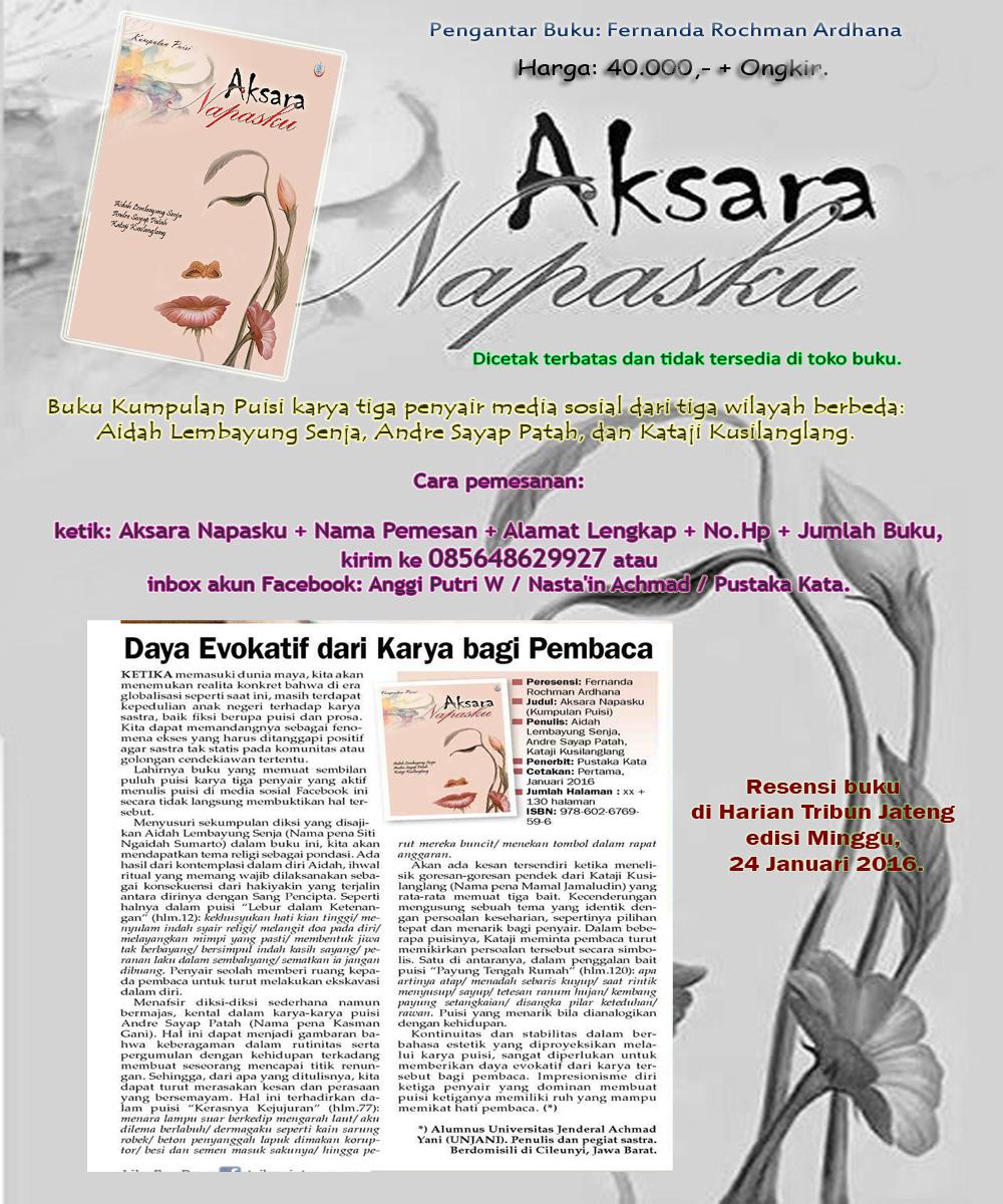 """PROMO """"Aksara Napasku"""""""