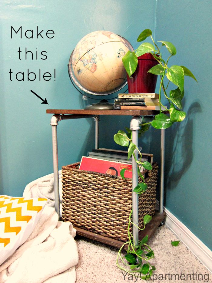 styled pipe side-table