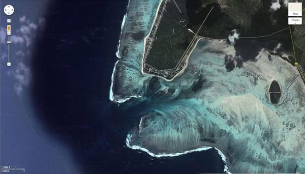 شلالات تحت الماء تظهر على خرائط جوجل