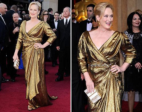 Look Meryl Streep Oscar 2012